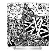 We Sailed The Seas Together Shower Curtain