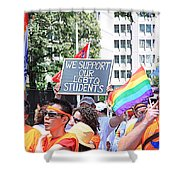 We Support Our Lgbtq Students Shower Curtain