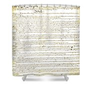 We The People Constitution Page 1 Shower Curtain