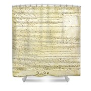 We The People Constitution Page 2 Shower Curtain