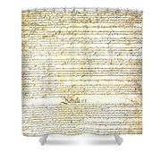 We The People Constitution Page 3 Shower Curtain
