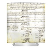 We The People Constitution Page 4 Shower Curtain