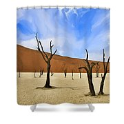 We Who Wait Shower Curtain