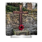 We Will Remember Shower Curtain by Adrian Evans