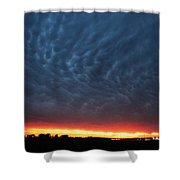 Weaking Cells Made For A Perfect Mammatus Sunset Shower Curtain