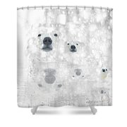 Weather Forcast - Snow - Featured In Cards For All Occasions Group Shower Curtain