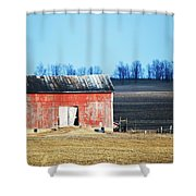 Weather Worn Shower Curtain