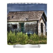 Weathered And Worn Well  Shower Curtain by Saija  Lehtonen