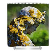Weathered Angel Shower Curtain