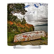 Weathered Boat Shower Curtain