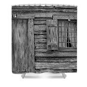 Weathered Door And Window 1 Shower Curtain
