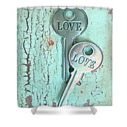 Weathered Love Shower Curtain