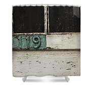 Weathered Old Door Shower Curtain