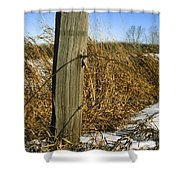 Weathered Old Fence Post Shower Curtain