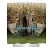 Weathered Pages Shower Curtain