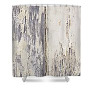 Weathered Paint On Wood Shower Curtain