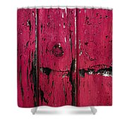 Weathered Red Shower Curtain