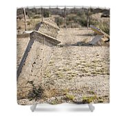 Weathered Remains Shower Curtain