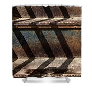 Weathered Stairs Shower Curtain