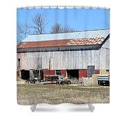 Weathered Storage Shower Curtain
