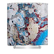 Weathered Wall 02 Shower Curtain