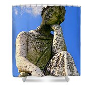 Weathered Woman Shower Curtain