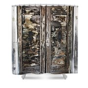 Weathered Wood Door Venice Italy Shower Curtain
