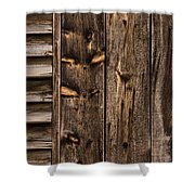 Weathered Wooden Abstracts - 3 Shower Curtain