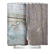 Weathered Wooden Boards Shower Curtain