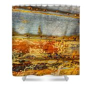 Weathered Wooden Boat - Abstract Shower Curtain