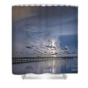 Weaver Pier Illuminated Shower Curtain