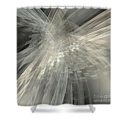 Weaving White And Gray Shower Curtain