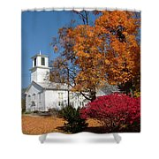 Webster Church On A Fall Day Shower Curtain