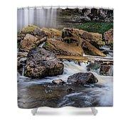 Webster Falls Shower Curtain by Garvin Hunter