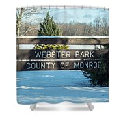 Webster Park Sign Shower Curtain