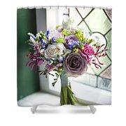 Wedding Bouquet Near A Window Shower Curtain