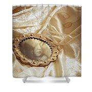 Wedding Dress And Mirror Shower Curtain