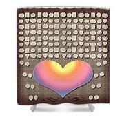 Wedding Guest Signature Book Heart Bubble Speech Shapes Shower Curtain