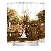 Wedding In Central Park Shower Curtain