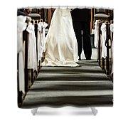 Wedding In Church Shower Curtain