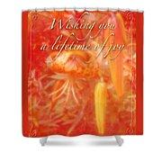 Wedding Joy Greeting Card - Turks Cap Lilies Shower Curtain