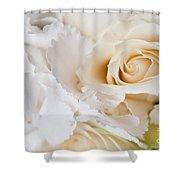 Wedding White Flowers Shower Curtain