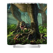 Wee Rex Shower Curtain by Jerry LoFaro
