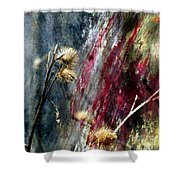 Weed Abstract Blend 1 Shower Curtain