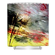 Weed Abstract Blend 2 Shower Curtain
