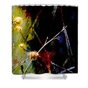 Weed Abstract Blend 3 Shower Curtain