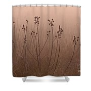 Weeds In The Fog Shower Curtain