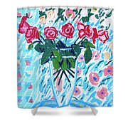 Weekend Roses Shower Curtain