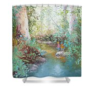 Weekends At The Creek Shower Curtain