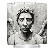 Weeping Angel Don't Blink Doctor Who Fan Art Shower Curtain